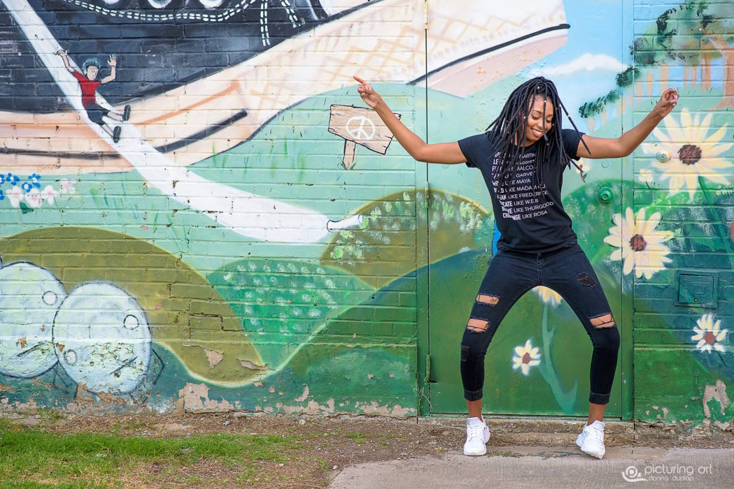 dance, braids, natural hair, graffiti, dallas, deep ellum, girl, african american, senior, senior pic, senior pictures, grad, graduate, classof2018, fusion