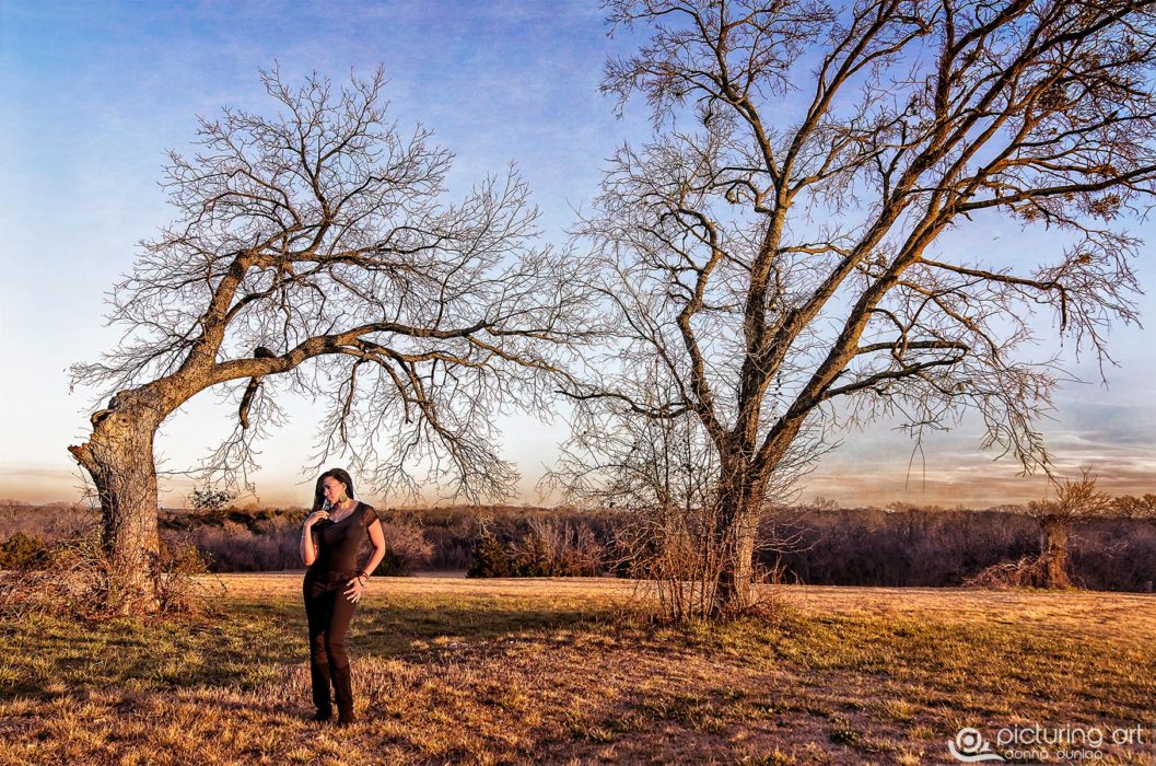 fine art, winter, field, woman, lady, art, African American, lifestyle, picturing art, donna dunlap